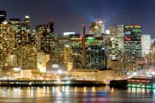 Leinwandbilder New York Wandbilder  New York Manhattan bei Nacht