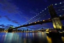 Wandbilder New York Wandbilder  Brooklyn Bridge bei Nacht in New York
