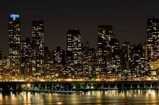 Wandbilder New York Wandbilder  In der Nacht in Manhattan New York