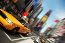 Wandbilder New York Wandbilder  Taxi in New York auf dem Time Square