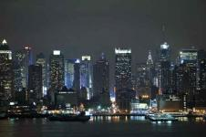 Wandbilder New York Wandbilder  New York Nacht Skyline