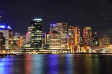 Wandbilder New York Wandbilder  New York Manhattan Skyline in der Nacht