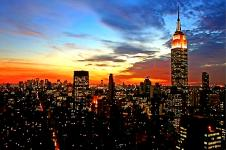 Leinwandbilder New York Wandbilder  New York City Midtown bei Sonnenuntergang