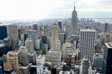 Leinwandbilder New York Wandbilder  Skyline von New York am Morgen