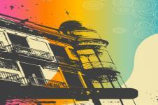 Wandbilder Retro und Lounge Wandbilder  Urban View Retro Style Urban Art