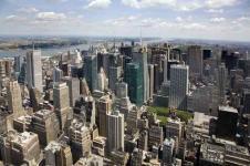 Leinwandbilder New York Wandbilder  Luftaufnahme von New York Manhattan