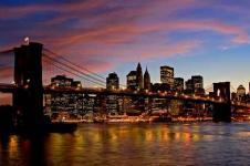 Wandbilder New York Wandbilder  Brooklyn Bridge Manhattan New York bei Nacht
