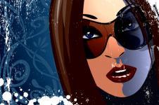 Leinwandbilder Retro und Lounge Wandbilder  Lady Incognito Digitales Design Digital Art