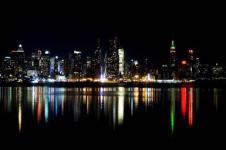 Wandbilder New York Wandbilder  Nachtaufnahme New York City