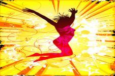 Wandbilder Retro und Lounge Wandbilder  Jumping in the Sun Urbane Kunst