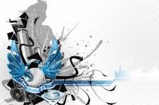 Wandbilder Retro und Lounge Wandbilder  Urban Music Scene