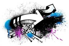 Leinwandbilder Retro und Lounge Wandbilder  Digital Graffiti Art They Know the Score