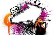 Wandbilder Retro und Lounge Wandbilder  Industry Game Digital Graffiti Art