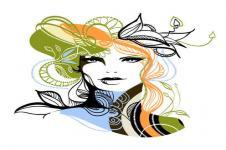Kunstdrucke Leinwand Wandbilder  Portrait Mode Zeichnung Digitale Kunst