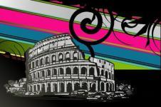 Leinwandbilder Retro und Lounge Wandbilder  Retro Urban Art Riding the Colorwave