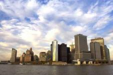 Wandbilder New York Wandbilder  Blick auf Downtown Manhattan in New York
