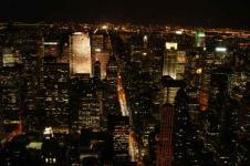 Leinwandbilder New York Wandbilder  Nachtansicht von New York