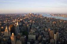 Leinwandbilder New York Wandbilder  Manhattan Luftaufnahme New York