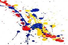 Kunstdrucke Leinwand Wandbilder  Abstrakte Kunst Bunte Farbspritzer