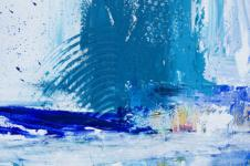 Kunstdrucke Leinwand Wandbilder  Blauer Herbst Abstrakte Malerei Abstrakte Kunst