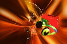 Leinwandbilder Retro und Lounge Wandbilder  Glory Headphones Digital Music Art