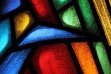 Kunstdrucke Leinwand Wandbilder  Mosaikfenster bunte Glasbausteine