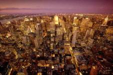 Wandbilder New York Wandbilder  Nächtlicher Blick über New York