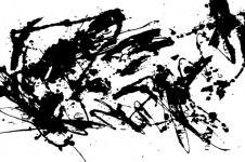 Kunstdrucke Leinwand Wandbilder  Abstrakte Kunst experimentell Black Wet Splashes