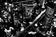 Wandbilder Retro und Lounge Wandbilder  City at Night