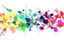 Kunstdrucke Leinwand Wandbilder  Abstrakte Kunst Farbspritzer