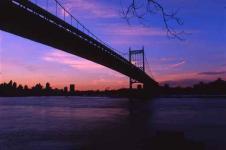 Wandbilder New York Wandbilder  New York Triborough Bridge im Sonnenuntergang