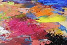 Kunstdrucke Leinwand Wandbilder  Farben bunt gemischt Aquarell Malerei