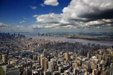 Wandbilder New York Wandbilder  Blick über Downtown New York