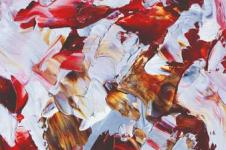 Kunstdrucke Leinwand Wandbilder  Kunstdruck Öl auf Leinwand Farbspritzer abstrakte Ölmalerei