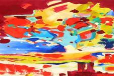 Kunstdrucke Leinwand Wandbilder  Drops Abstrakte Malerei