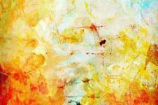 Kunstdrucke Leinwand Wandbilder  Kunstdruck Aquarell Malerei auf Leinwand Sonnenuntergang abstrakt