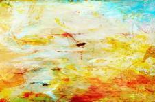 Kunstdrucke Leinwand Wandbilder  Farben Ton in Ton Rot Orange Malerei