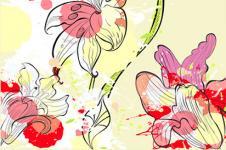 Wandbilder Blumen Wandbilder  Tropische Blumen Digial Art