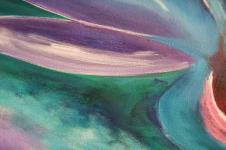 Kunstdrucke Leinwand Wandbilder  Aquarellmalerei abstrakt