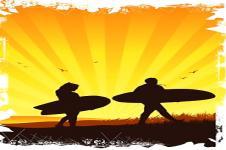 Wandbilder Retro und Lounge Wandbilder  Surf and Sun