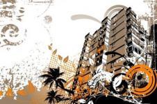 Leinwandbilder Retro und Lounge Wandbilder  Urban Construction Urbane Kunst