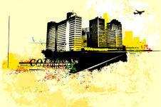 Wandbilder Retro und Lounge Wandbilder  Vector City