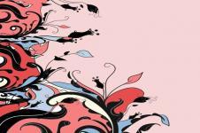 Kunstdrucke Leinwand Wandbilder  Blumenmotiv abstrakt Pink und Rosa Blüten