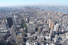 Wandbilder New York Wandbilder  New York Blick auf die Halbinsel Manhattan