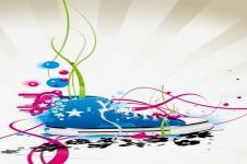 Leinwandbilder Retro und Lounge Wandbilder  City Sneakers Digital Art