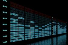 Leinwandbilder Retro und Lounge Wandbilder  Virtual Equalizer 3D Digital Art
