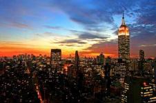 Leinwandbilder New York Wandbilder  Skyline von New York in der Abendsonne