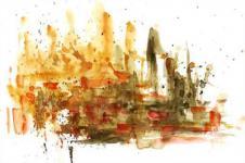 Kunstdrucke Leinwand Wandbilder  Kunstdruck Malerei auf Leinwand abstrakte Farbspritzer