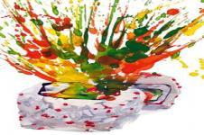 Kunstdrucke Leinwand Wandbilder  Farbspritzer Malerei abstrakt