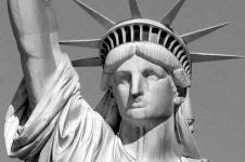 Wandbilder New York Wandbilder  Zoom auf die Freiheitsstatue in New York